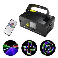 Mini DMX Remote 3D Effect 400mW RGB Laser Light Show DJ Party Stage Lighting