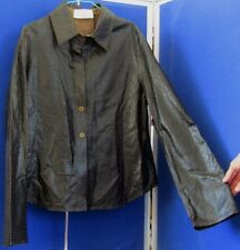 NWT Trendy LEATHER Top JACKET by WENDALL Buenos Aires ARGENTINA Unlined Sz M