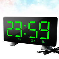 Home Modern USB Charging Digital LED Desk Alarm Clock Timer For Bedroom Decor