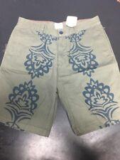 BUCKMAN BROS THE TOURIST Men's Shorts Tribal Flat Front Khakis Size 34