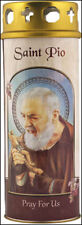 SAINT PADRE PIO DEVOTIONAL HOLY CANDLE - 100's OF STATUES + PICTURES ARE LISTED