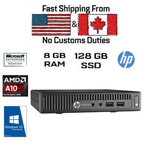 HP Elitedesk 705 G3 Tiny Mini AMD A10 PRO-8770E R7, 8GB, 128GB SSD, HDMI, Win10