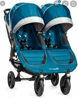 Baby Jogger City Mini GT Double Stroller - Teal & Gray