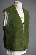 Vtg Euro Vest Jacket Fur Liner Opti Zipper