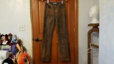WOMAN MISS SIXTY SIZE 26 COPPER METALIC COVERED DENIM JEANS PANTS ITALY DESIGNER