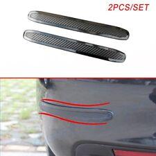 Pair Car Rubber Body Corner Bumper Lip Protector Guard Crash Bar Anti-rub Trims