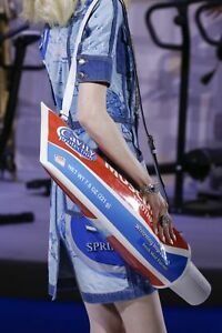 $2295 AW19 Moschino Couture Jeremy Scott OVERSIZED TOOTHPASTE SHOULDER BAG