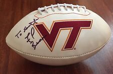 FRANK BEAMER HAND SIGNED VIRGINIA TECH HOKIES LOGO FOOTBALL W/COA