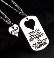 2PCs Necklace Pendant Necklace Set Grandpa Gifts Girl