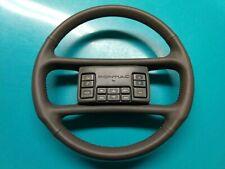 Pontiac Trans Am GTA / GM Gray Steering Wheel - NEW Leather