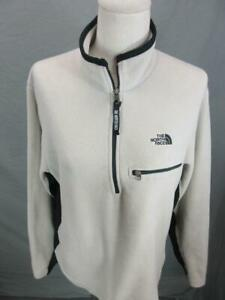 THE NORTH FACE SIZE M MENS TAN ATHLETIC OUTDOOR 1/2 ZIP FLEECE PULLOVER T090