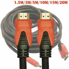1.5m-20m 3D 1080P HDMI Cable V1.4 Male to Male Video Cord Gold-plated For HDTV