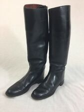 MARLBOROUGH Womens Equestrian Boots Black Leather England US Sz 9 A, UK Sz 7A