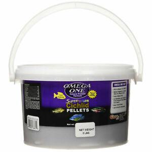 3-lbs OMEGA ONE SUPER COLOR CICHLID PELLETS SM, FREE 12-Type Ultra Pellet Blend