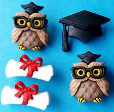 LAUREA-College Università Cap GUFO Scroll Novità dress It Up Bottoni Craft