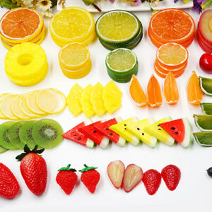 Artificial Fake Fruit Slices Simulation Orange Lemon Apple Slices Kitchen Decor