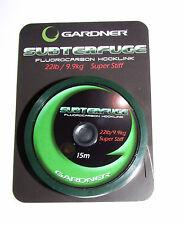 Gardner Subterfuge Fluorocarbon Hook Link 22lb Super Stiff 15mtrs - Carp Fishing