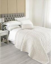 Riva Paoletti Nimes Ivory Bedspread 240 cm x 250 cm, Silk