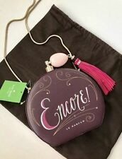 NWT Kate Spade On Pointe Encore Round Leather Perfume Bottle Clutch Shoulder Bag