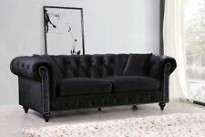 Chesterfield Design Luxus Polster Sofa Couch Sitz Garnitur Leder Textil Neu #125