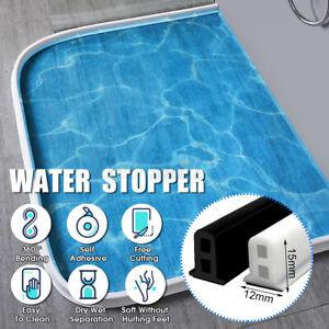 60-200cm Long Bathroom/Kitchen Shower Water Barrier Threshold Dam Floor Stopper