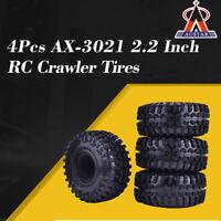 4PCS AUSTAR AX-3021 2.2Inch Rubber Tires Tyre for 1/10 SCX10 90056 90045 RC Car