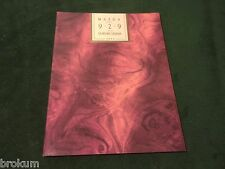 NEW 1993 MAZDA 929 LUXURY SEDAN SALES BROCHURE MINT ORIGINAL (BOX 636)