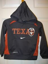NIKE Texas Longhorns Football Therma Fit Gray Orange Hoodie Boys Size 4 NWT