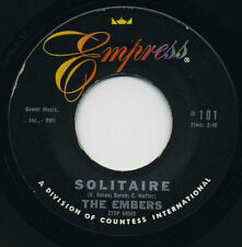 THE EMBERS Solitaire / I'm Feeling All Right Again    R&B SOUL  45 RPM  RECORD