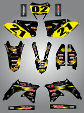 Suzuki RMX 450 Z 2010 - 2015 Full custom sticker kit Barbed Style decals