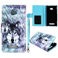 Siberian Wolf   Wallet  magnet For HTC Windows Phone 8X PU Leather  case cover