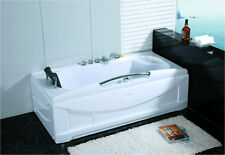 New 1 Person Jetted Whirlpool Massage Hydrotherapy Bathtub Tub Indoor - White