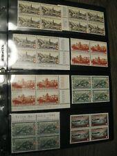 Switzerland  Special Stamps! 4er Blocks,  Swiss stamps (1943,1944,1945)