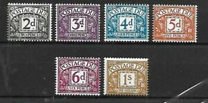 GB A selection of (6) mint Postage Due stamps 1968-69