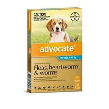 advocate Teal Flea and Worm Treatment for Dogs 4 - 10kg , 6 Pack