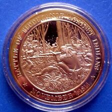 1811 American Indian Confederation: Battle of Tippecanoe - Solid Bronze Medal