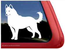Solid Siberian Husky Dog Car Truck Window Decal Sticker