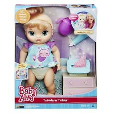 NEW HASBRO BABY ALIVE TWINKLES N' AND TINKLES BLONDE DOLL B6051