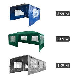3x4/3x6/3x9M Tonnelle de Jardin Tente Réception Auvent Tente Pavillon de Jardin