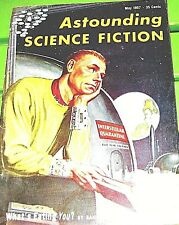 ASTOUNDING SCIENCE FICTION-May 1957- Silverberg-Budrys-asimov-Poul- McGuire-Emsh
