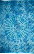 Tela pintada mandala azul decoración de paredes muebles hogar