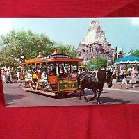 Disneyland Magic Kingdom HORSE DRAWN STREETCAR Mainstreet Vintage Postcard NEW