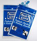 Seal a Card Seal-a-Card Plastic Self-Adhesive Laminating Sheets, 2 Paks