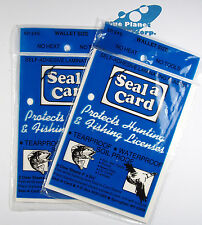 Plastic Self-Adhesive Lamination Sheets Seal a Card Seal-a-Card, Laminate 2 Paks