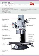 Optimum Germany MH28V Heavy Duty Gear Head Variable  Mill 1.1kw Motor DSP