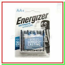 ENERGIZER Lithium AA 4 Pile Batterie Litio ULTIMATE STILO !!!!SCADE 2039!!!!