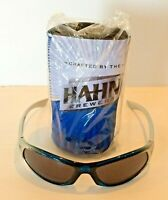 Rare Hahn Brewers Voice Record Repeat Stubby Can Cooler Holder & Sunglasses