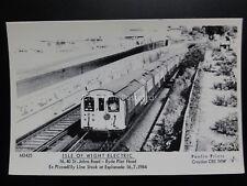 ISLE OF WIGHT ELECTRIC RAILWAY Ryde Pier Head - Pamlin Print Postcard No.M3425