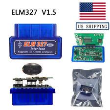 USA Ship V1.5 Bluetooth OBD2 Scanner Adapter Car Diagnostic For OBDII Protocols