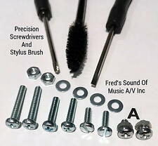 Headshell Cartridge Turntable Stylus Brush Cleaner Screw 19Pc Kit Technics Best